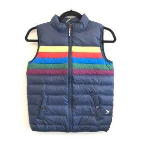 Mini Boden Reversible Puffer Vest Rainbow 9-10Y